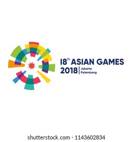 Jakarta, Indonesia - July 27, 2018: Event Asian Games 2018 Icon Vector Illustration