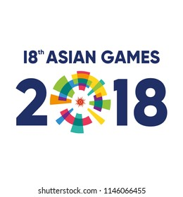 Jakarta, Indonesia - July 31, 2018: Event Asian Games 2018 Logo Vector Illustration