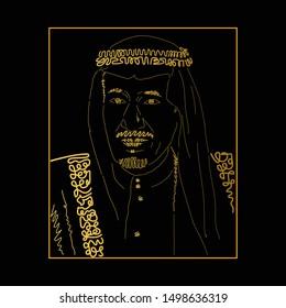 Jakarta Indonesia, September 08 2019 : King Salman bin Abdul Aziz Al Saud. Vector Illustration