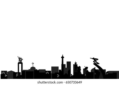Jakarta in Silhouette