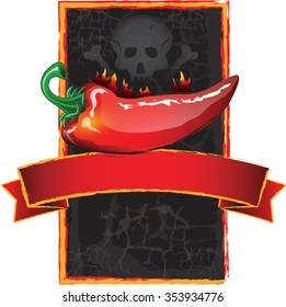 Jalapeno hot sauce label with a skull on it, daring the consumer to try it!