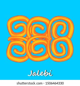 Jalebi Gujrati indian Street Food Vector