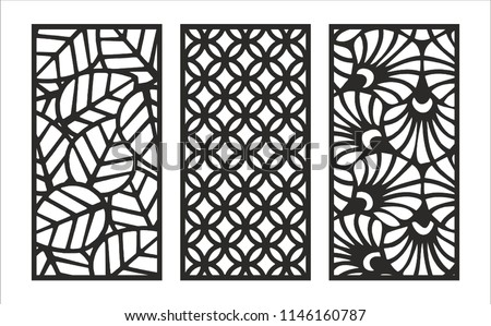 Jali Design Graphic Plywood Partition Foam Stock Vector Royalty