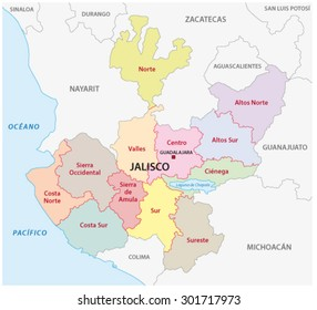Jalisco administrative map