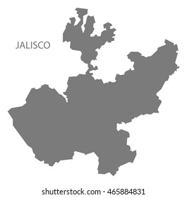 Jalisco Mexico Map grey