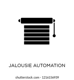 Jalousie automation icon. Jalousie automation symbol design from Smarthome collection. Simple element vector illustration on white background.