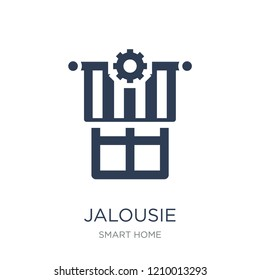 Jalousie automation icon. Trendy flat vector Jalousie automation icon on white background from smart home collection, vector illustration can be use for web and mobile, eps10