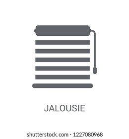 Jalousie automation icon. Trendy Jalousie automation logo concept on white background from Smarthome collection. Suitable for use on web apps, mobile apps and print media.