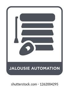 jalousie automation icon vector on white background, jalousie automation trendy filled icons from Smart home collection, jalousie automation simple element illustration