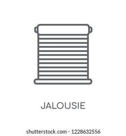 Jalousie automation linear icon. Modern outline Jalousie automation logo concept on white background from Smarthome collection. Suitable for use on web apps, mobile apps and print media.