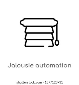 jalousie automation vector line icon. Simple element illustration. jalousie automation outline icon from smart home concept. Can be used for web and mobile
