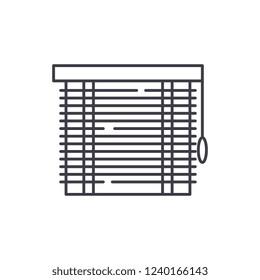 Jalousie line icon concept. Jalousie vector linear illustration, symbol, sign