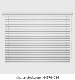 Jalousie, louvers on transparent background. Blinds vector. Shutters isolated.
