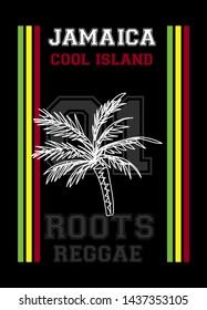 jamaica cool island,t-shirt design fashion vector illustration
