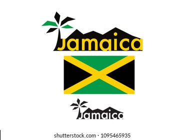 jamaica flag. jamaica logo. jamaica beach
