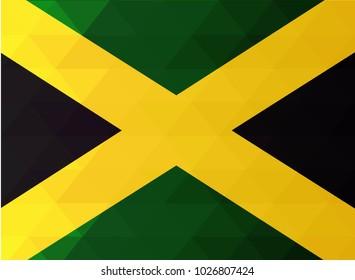 Jamaica Flag vector illustration