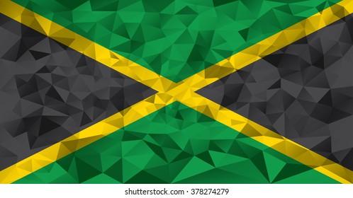 Jamaica flag vector illustration.