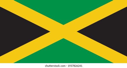 Jamaica Flag vector illustration design