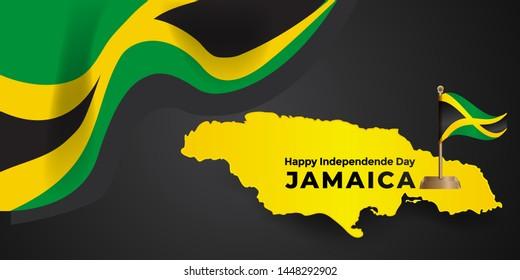 Jamaica independence day design - vector