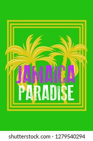 jamaica island caribbean paradise holidays poster beach vacations