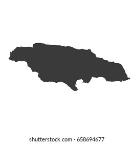 Jamaica map vector. / Jamaica map