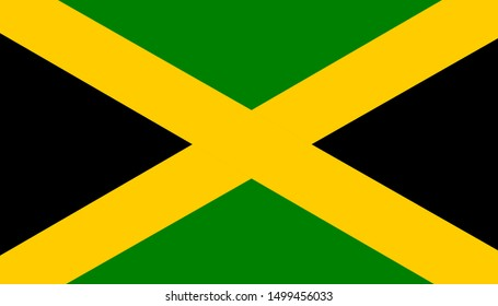 jamaica original flag on background
