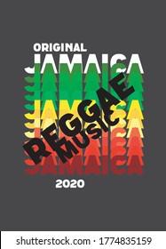 jamaica reggae music,t-shirt design fashion vector