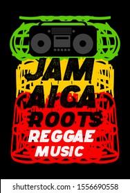 jamaica roots reggae music,t-shirt design fashion vector