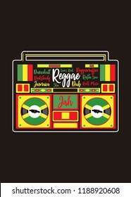 jamaican music reggae rasta roots dub ska rocksteady colorful music poster