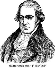 James Watt, vintage engraved illustration