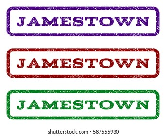 Jamestown Watermark Stamp Text Tag Inside Rounded Rectangle Frame With Grunge Design Style Vector