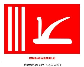 Jammu and Kashmir Flag Vector Illustration on White Background. Official State Flag Of India.