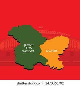 jammu kashmir ladakh map ( union territories of india)