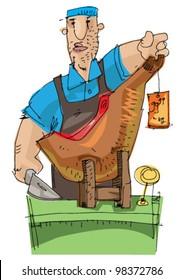 jamon - cartoon - butcher