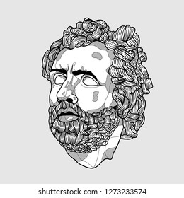 Jan. 03, 2019: Odysseus. Vector illustration hand drawn.