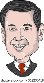 Jan. 14, 2016: Vector illustration of Marco Rubio, an American senator, politician and Republican 2016 presidential candidate done in cartoon style.