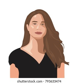 January 15, 2018: A vector illustration of a portrait of Meghan Markle.