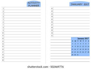 june 2017 calendar template monthly planner stock vector royalty