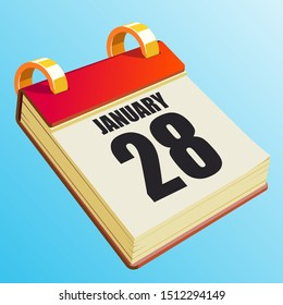 January 28 on Red Calendar