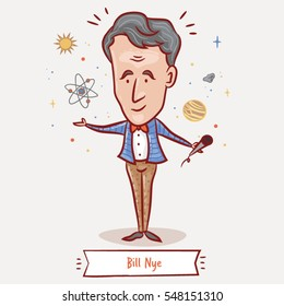 JANUARY 4, 2017: The American science educator, television presenter and mechanical engineer Bill Nye
