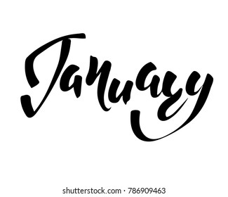 January Month Hand Lettering Inscription Design Stock Vector Royalty Free 786909463 All our images are transparent and free for personal use. shutterstock