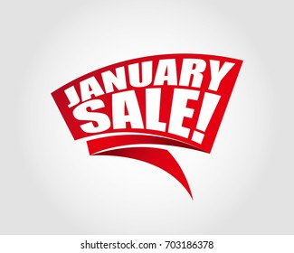 January sale labels banners