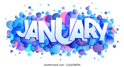January word vector banner
