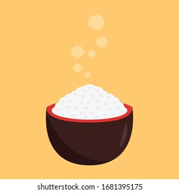 Japan cup vector. wallpaper. free space for text. japan cup symbol. rice in the cup.