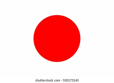 Japan flag vector icon.