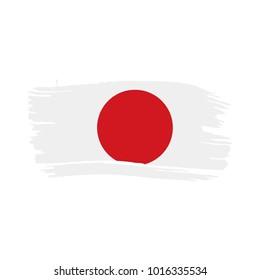 Japan flag, vector illustration