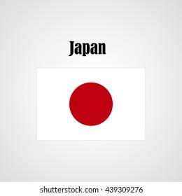 Japan flag vector sign