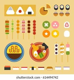 japan food vector illustration flat design