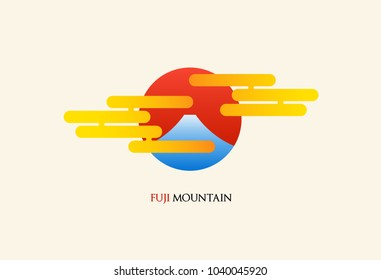 Japan Fuji mountain abstract logo vector illustration