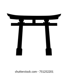 Japan Gate. Torii gate icon